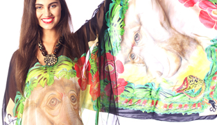 Ro London Proboscis Monkey Caftan