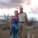 "Ro London & John Rendall, a ""Lion called Christian"" Shaba National Game Reserve, Kenya."