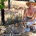 Ro London - Ann Van Dyk's world famous cheetah conservation centre.