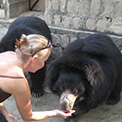 Ro London. Agra Bear Sanctuary, volunteer on my second Free the Bears Fund tour.