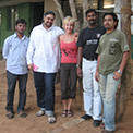 Ro London. Kartick and vets at Bannerghatta Bear Sanctuary outside Bangalore, India.